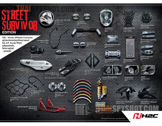 Honda Grom Build >> MSX125 Accessories Catalog may hint at Grom Accessories Catalog from Honda