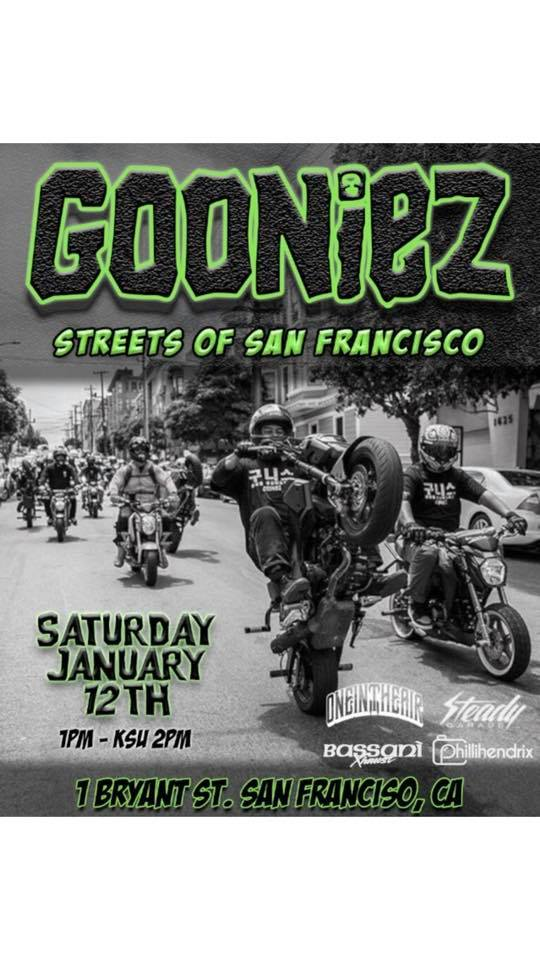 San Francisco, Saturday January 12th 1PM.   Gooniez Ride...-50051934_10213236576420643_5350344664476024832_n.jpg
