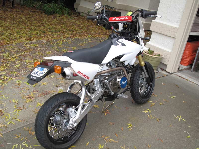 Looks like I'm building a street legal crf50 - Page 2