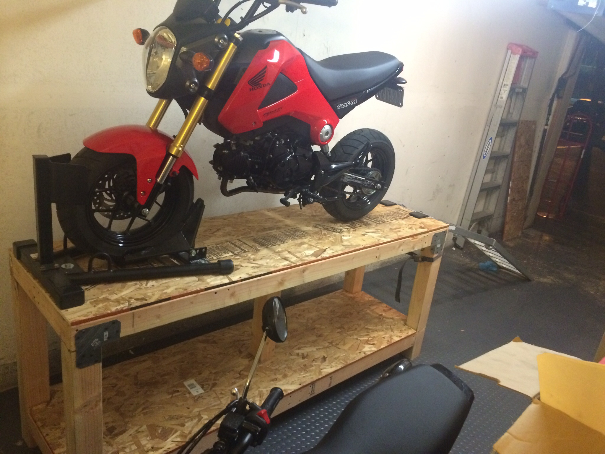 Homemade Motorcycle Table Lift