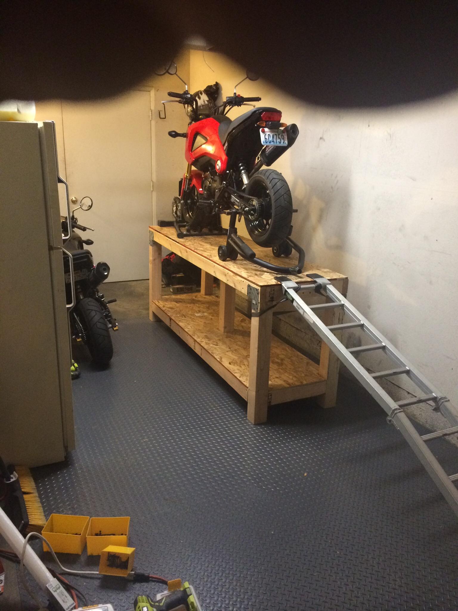 Homemade Motorcycle Table Lift Image Jpg