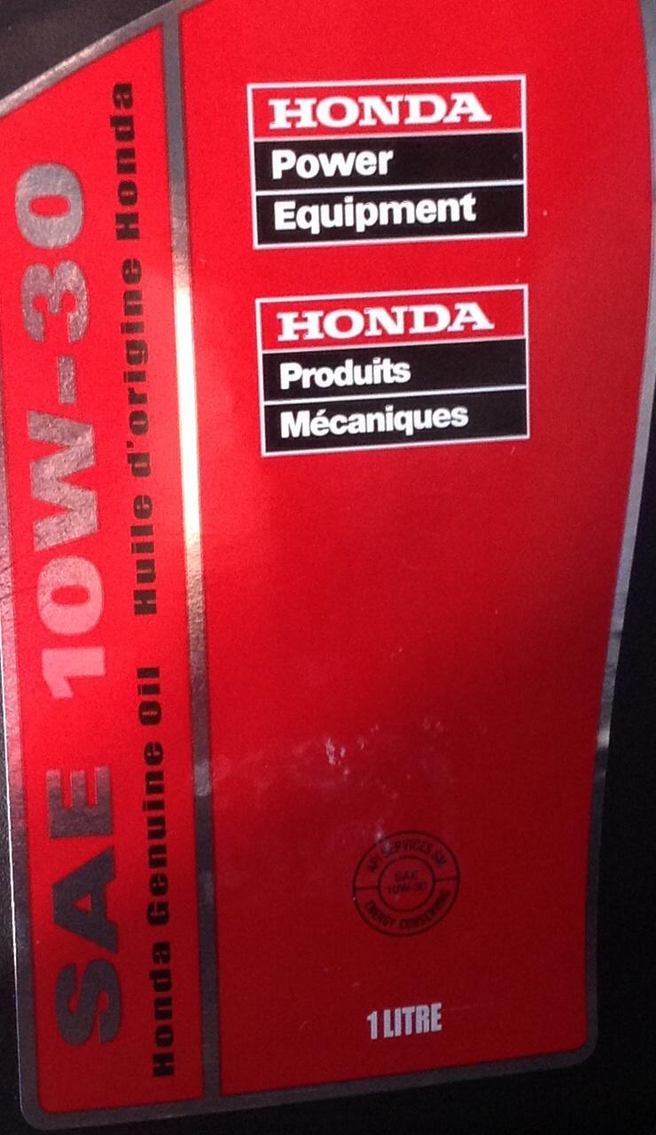 Honda Dealership Ma >> Honda Power Equipment SAE 10w 30 oil