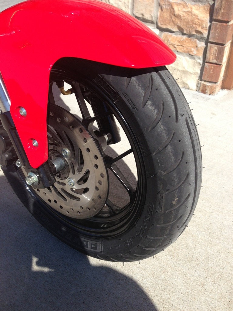 Michelin power pure installed