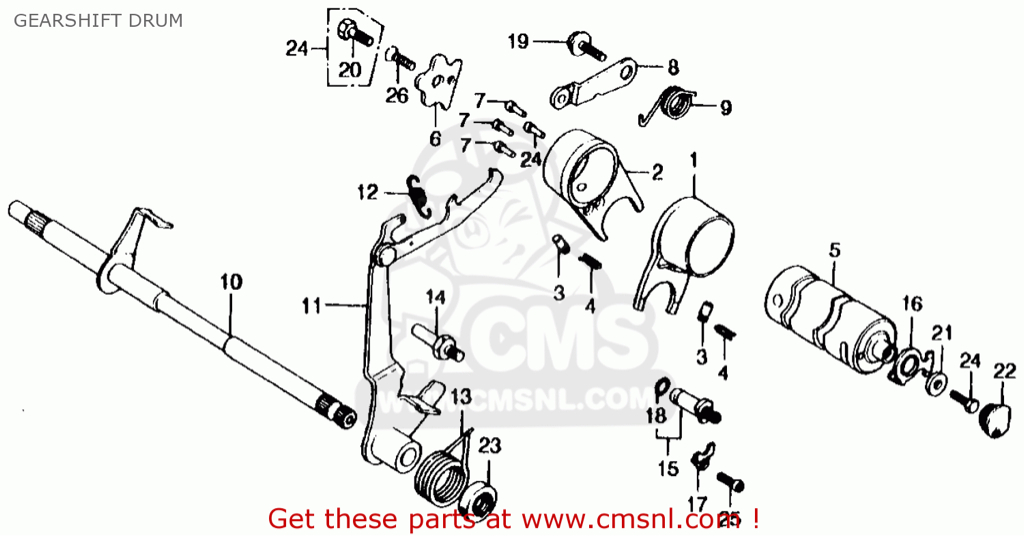 grom/MSX 125 transmission