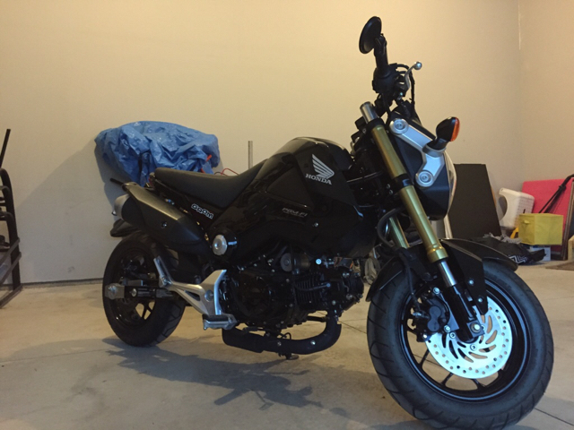 2014 black Grom. Lowered, stretched, and more.