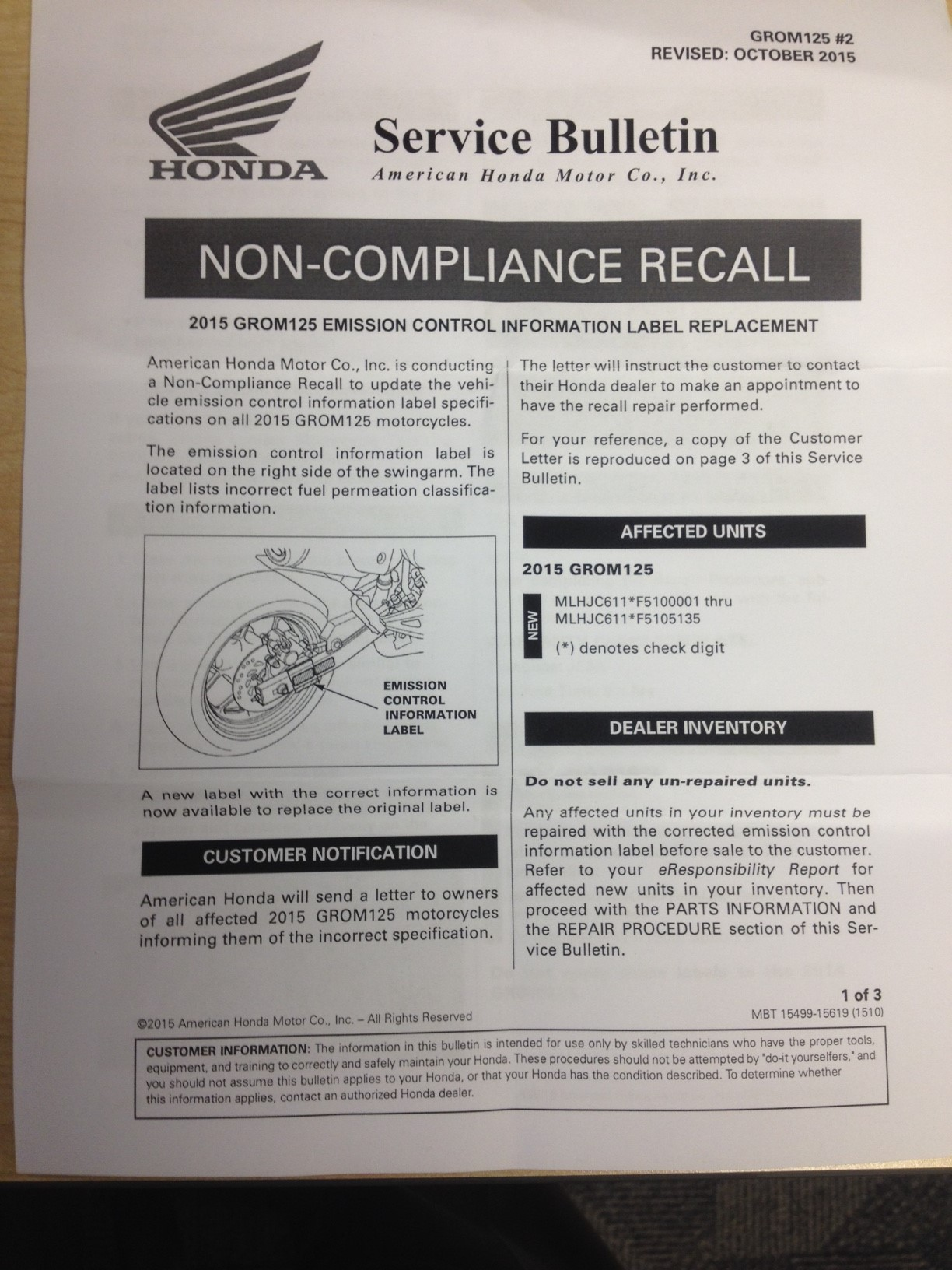 Fuel pump replacement recall and my encounter with Honda service
