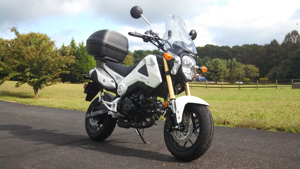 2015 Honda Grom >> Added Givi A660 Windshield