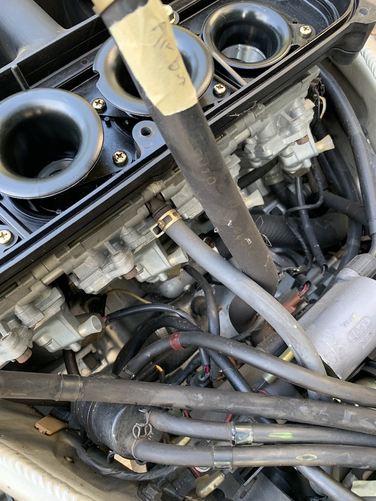 Decided to do some work on my 99 ZX6r, clean carbs, change spark plugs-pictures-label-hose-airbox.jpg