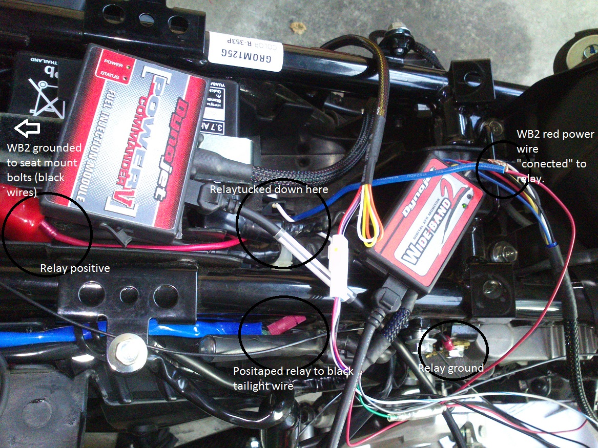 How-To: 2017 GromSF/MSX125SF Wire up Auxiliary power for PCV/WB2 and