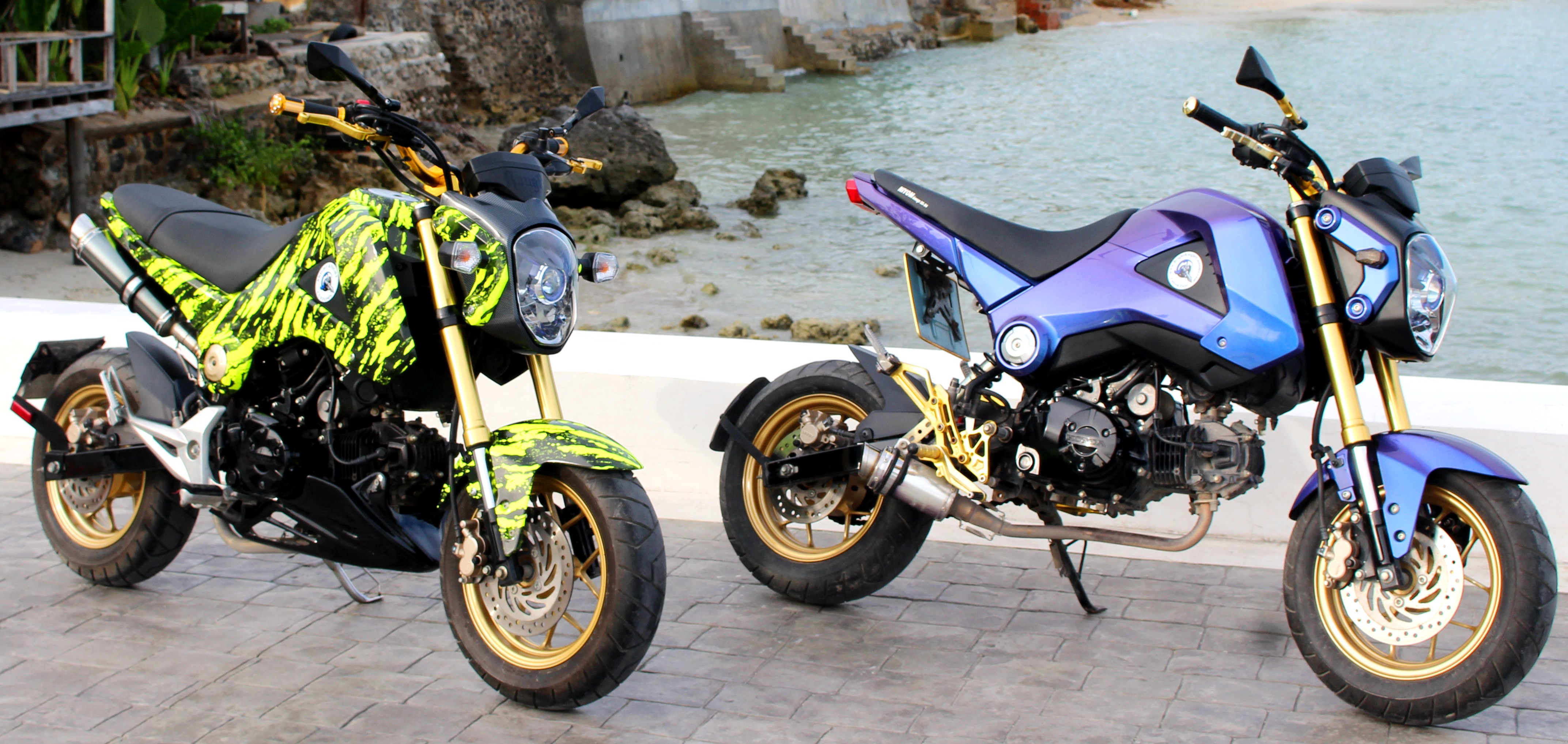 2015 Honda Grom >> Some of our custom painted Grom sets