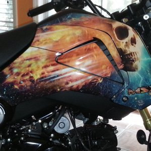 Flaming skull Grom with tank insert